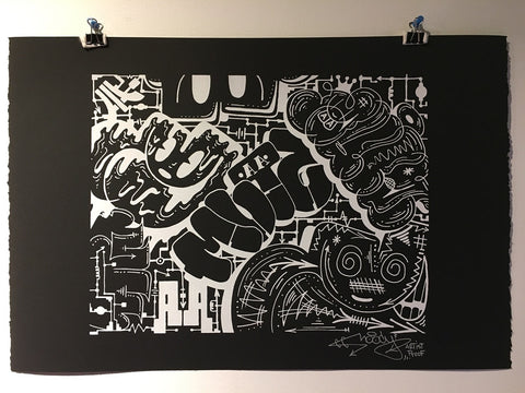 "Moody ""Throw Back"" Black and White Print 50% off"