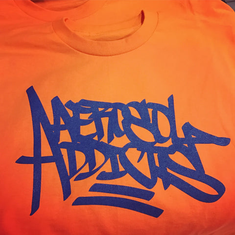 """Aerosol Addicts"" Orange T shirt"