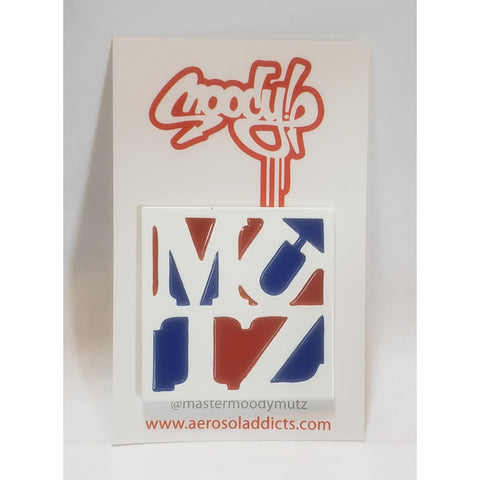 Red/white/blue Mutz  Enamel Pin/sticker pack