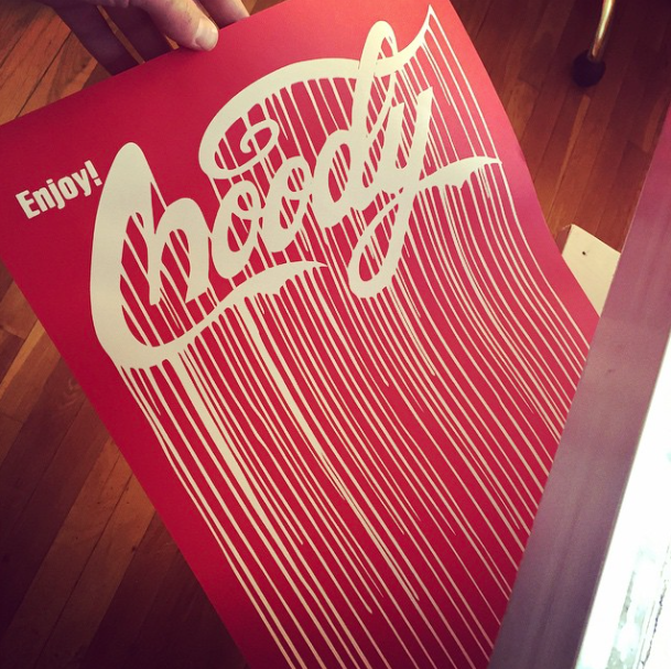 """Enjoy Moody"" Drip Screen Print (Limited Edition) - Red"