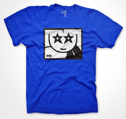 Moody Sticker T-shirt Blue xxl only