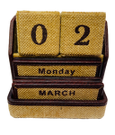 Calendar - blocks in Jute