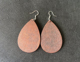 Drop shape earrings - Wood