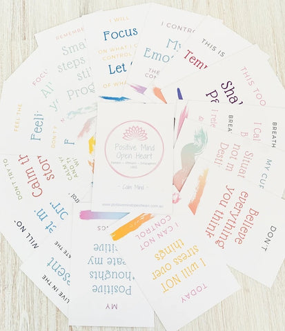 Affirmation cards - Calm mind (Adults) FREE SHIPPING