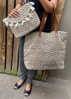 Clutch and tote -Set(Jute)