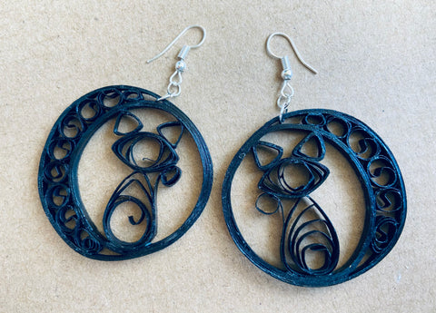 Paper Earrings - Handmade,Lightweight FREE SHIPPING