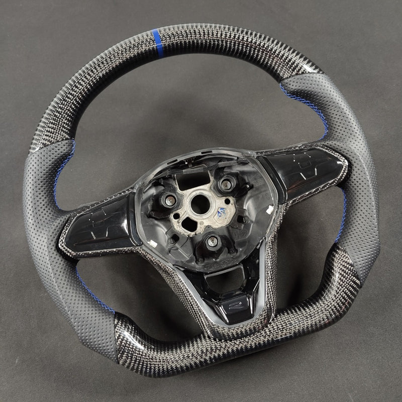 Carbon Fiber Steering Wheel Volkswagen mk8 Gti / R / Rline / T-roc / T-cross
