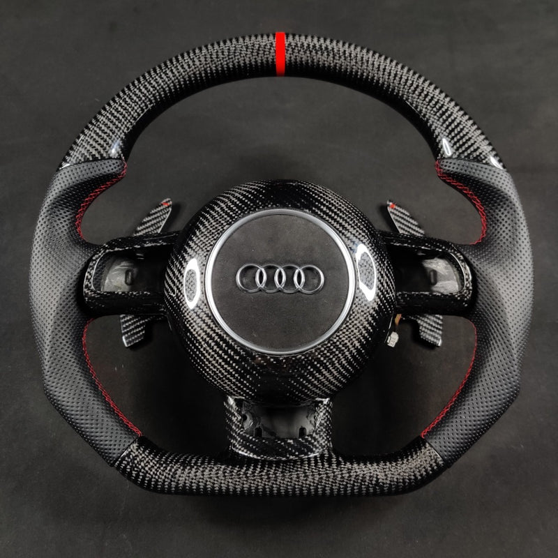 Carbon Fiber Steering Wheel Audi 8p (Airbag cover excl )