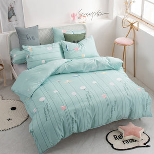 Alanna fashion bedding set Pure cotton A/B double-sided pattern Simplicity Bed sheet, quilt cover pillowcase 4-7pcs
