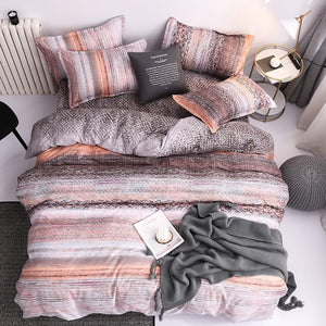 Reactive Printing Home bed set pillowcase duvet cover Bedding set flat sheet bedclothes 3 or 4pcs queen king Single full