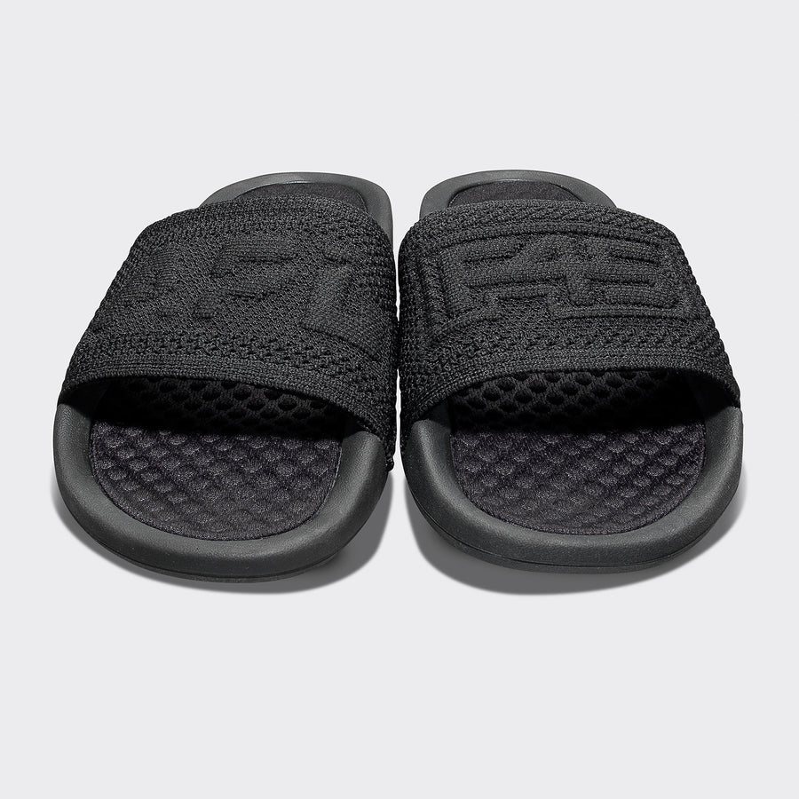 Womens Big Logo Slide - Black