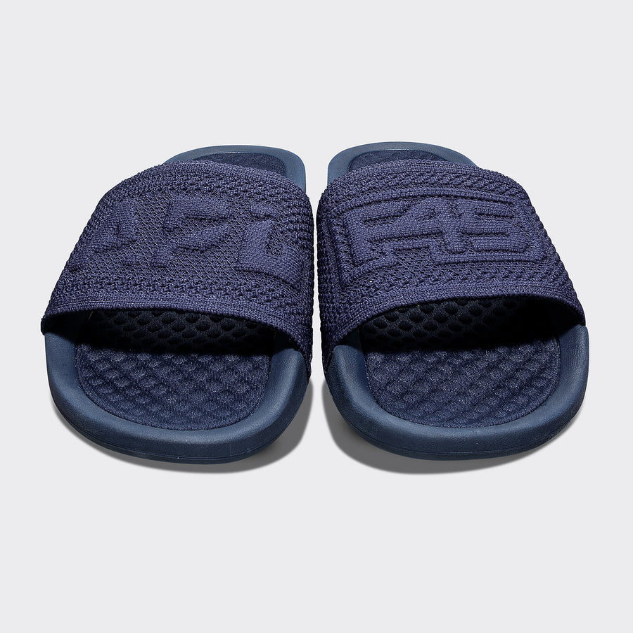Womens Big Logo Slide - Navy