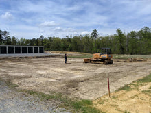 Load image into Gallery viewer, Dozer removing top soil for Dodd Constructino customer to build new storage building in Centre, Alabama
