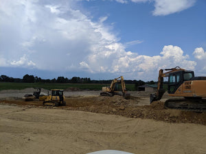 Dodd Const;ruction provides heavy equipment to help with new Tractor Supply Company site in Centre, Alabama