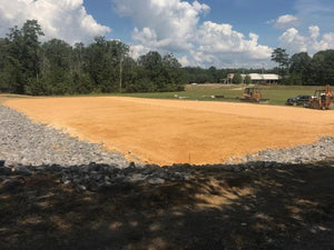 chert building pad ready for metal storage building