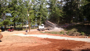 Land grading and new driveway being installed for Dodd Construction customer in Centre, Alabama