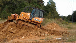 Bulldozer pushing dirt at Dodd Construction in Centre, Alabama