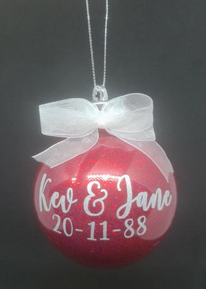 Red Glitter Baubles