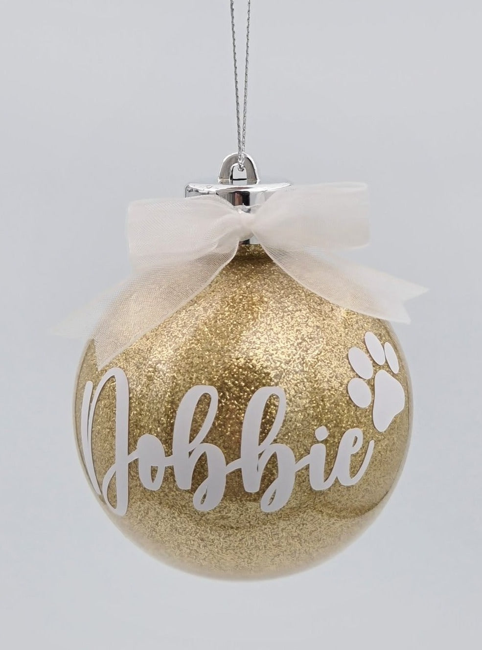 Gold Glitter Baubles