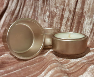 Rose Gold Glass Tea Light Cup holders