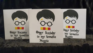 """Harry Potter"" inspired Birthday Greeting Card"