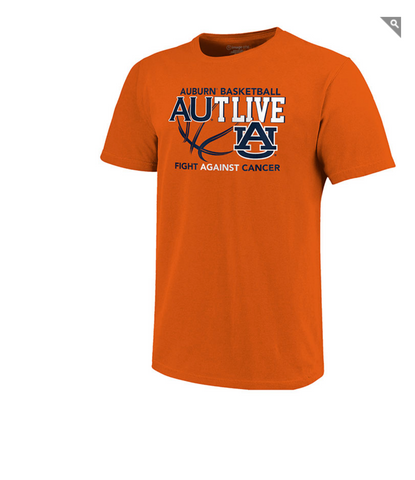Auburn Tigers AUTLIVE Basketball Tee Shirt - Fight Against Cancer