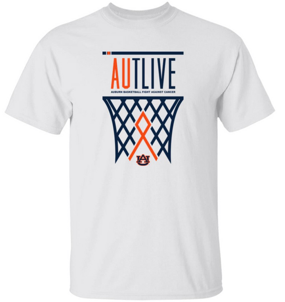 Auburn Tigers AUTLIVE Basketball Tee - Fight Against Cancer