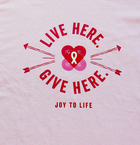 Live Here Give Here Tee