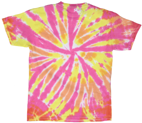 Peace Love Life Tie Dye T-shirt - Yellow