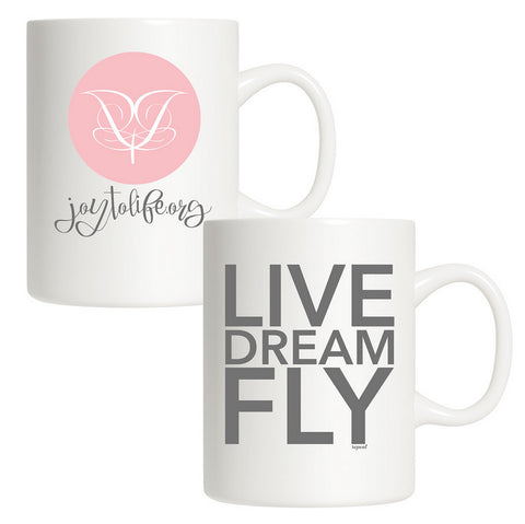 Classic White Joy to Life Mugs