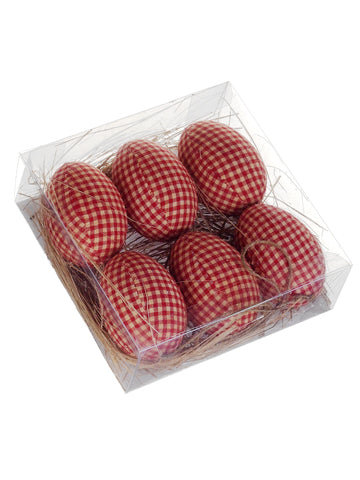 "3"" Easter Egg Ornament (6 ea./Box) Brick (pack of 4)"