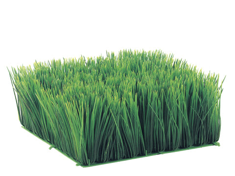 "5""Hx10.5""Wx10.5""L Square Long Grass Mat Green (pack of 4)"