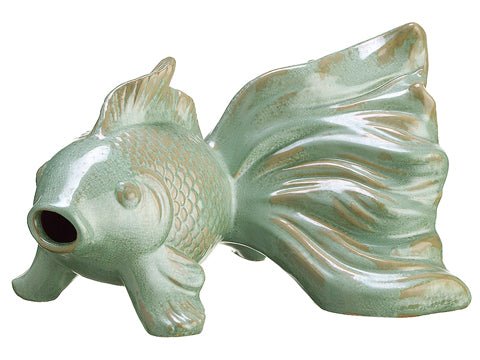 "5.9""Hx7.8""Wx9.6""L Ceramic Fish Green (pack of 2)"