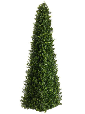 4' Triangular Boxwood Topiary  Two Tone Green (pack of 2)