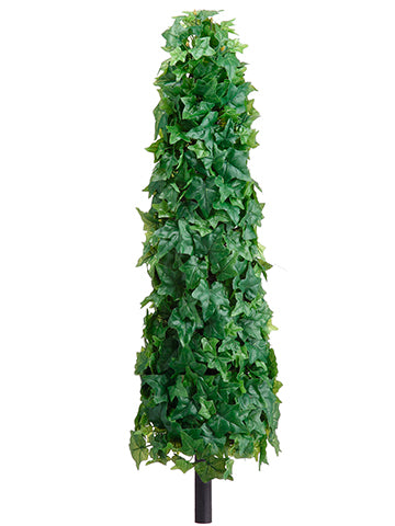 "28"" Ivy Leaf Cone Topiary on Stem Green (pack of 2)"