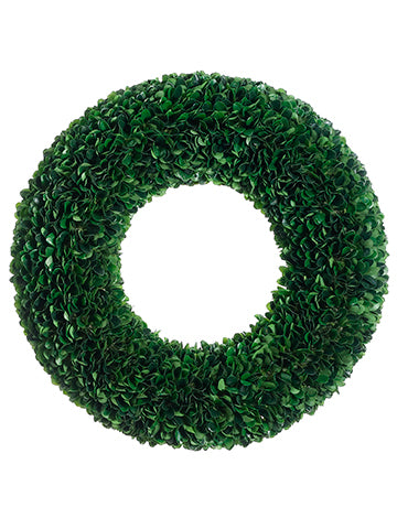 "19.5"" Dried Look Boxwood Wreath Green (pack of 2)"