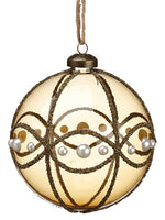 "4.75"" Pearl Glass Ball Ornament Bronze Pearl (pack of 4)"