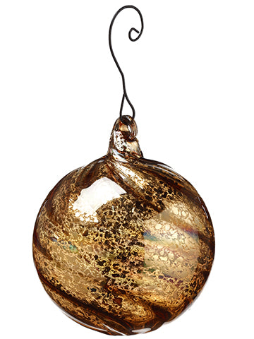 "3"" Glass Ball Ornament  Gold (pack of 12)"