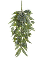 "30"" Eucalyptus Door Swag w/Seed Green Two Tone (pack of 4)"