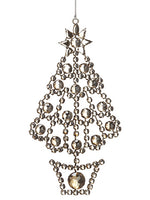 "7.5"" Rhinestone Tree Ornament  Antique Silver (pack of 12)"
