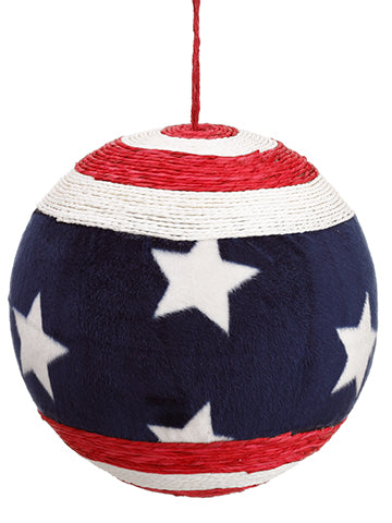 "9"" Ball Ornament  Blue Red (pack of 12)"