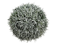 "11.4"" Pine Ball Ornament  Green Gray (pack of 4)"