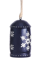 "6"" Snowflake Bell Ornament  Red White (pack of 3)"