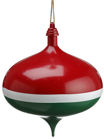 "8"" Matte Onion Ornament  Red Green (pack of 4)"