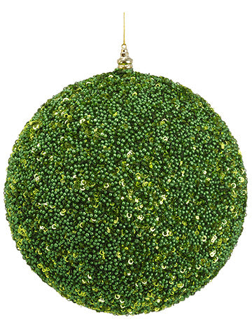 "11.8"" Glittered Ball Ornament  Green (pack of 1)"