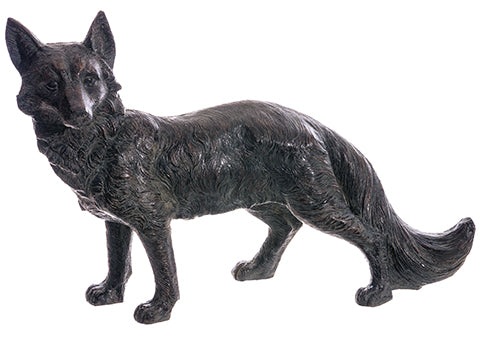 "18"" Fox  Black Whitewashed (pack of 1)"