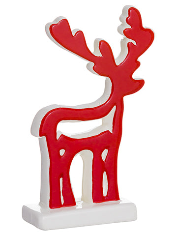 "6.1"" Reindeer  Red White (pack of 18)"