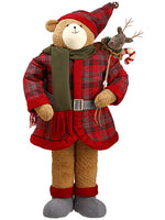 "38"" Plaid Bear  Red (pack of 1)"