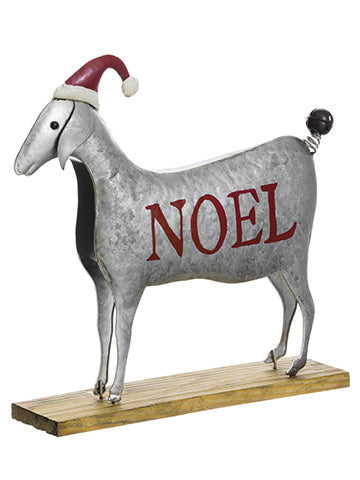 "14""Hx14.75""L Noel Sheep With Hat Gray Red (pack of 6)"