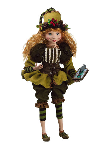 "21"" Woodland Girl Elf  Two Tone Green (pack of 1)"